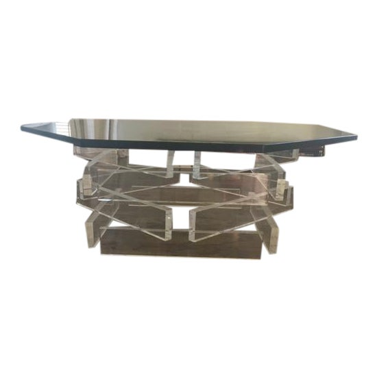 Lucite 'Brick' Coffee Table - Image 1 of 7