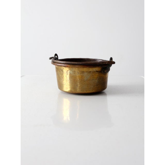 Antique Brass Plated Copper Pot - Image 6 of 8