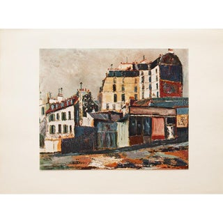 1950s Maurice Utrillo, Rue Ravignan of Paris Lithograph For Sale