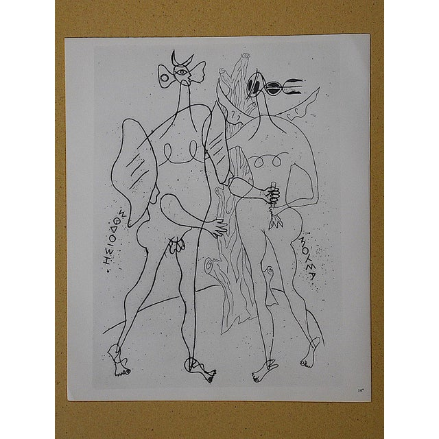 Mid 20th C. Modern Lithograph-Georges Braque - Image 2 of 3