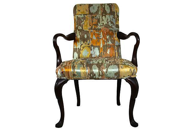 Antique English Queen Anne Accent Chair