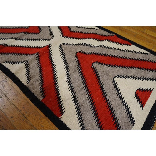 Navajo Style Rug- 2′8″ × 5′ For Sale - Image 4 of 4
