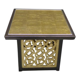John Widdicomb Gold Leaf Pedestal Table For Sale