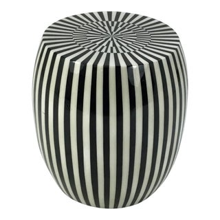 Made Goods Black and White Janson Resin Stool For Sale