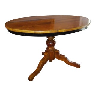 Late Biedermeier Oval Table For Sale