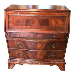 Traditional Wooden Rolltop Secretary Desk