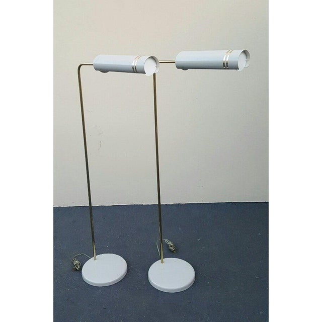 Mid Century Rare Stylized Space Age Gerald Thurston Reading Floor Lamps - a Pair For Sale - Image 11 of 11