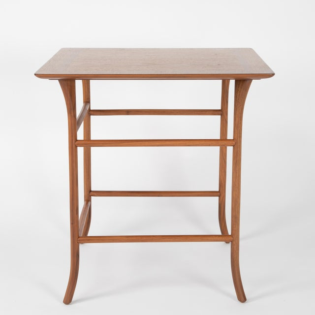 Walnut Nesting Tables Inspired by T.H. Robsjohn-Gibbings, Circa 1990s - a Pair For Sale In New York - Image 6 of 13