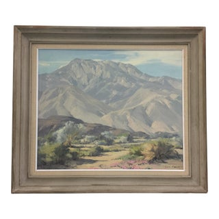 Karl Albert Oil Painting Desert Landscape Palm Springs Calfornia For Sale