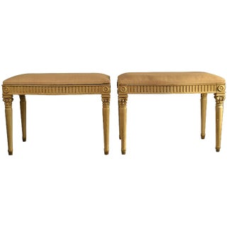19th Century Pair of Louis XVI Style Footstools For Sale