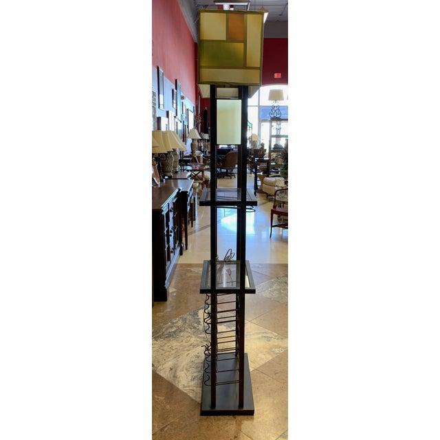 Mid-Century Modern Van Teal Bacchus Wine Rack Floor Lamp For Sale - Image 3 of 9