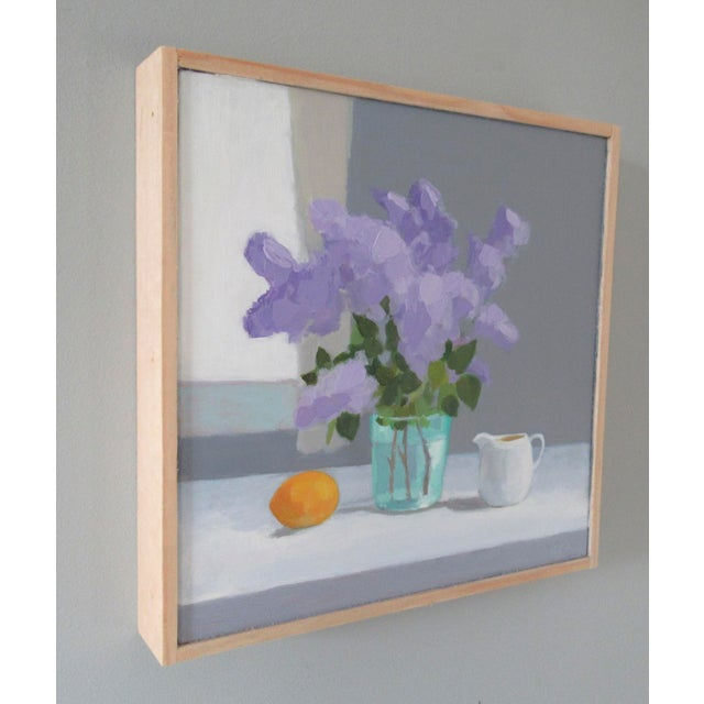 Abstract Expressionism Lilac, Lemon and Creamer by Anne Carrozza Remick For Sale - Image 3 of 6