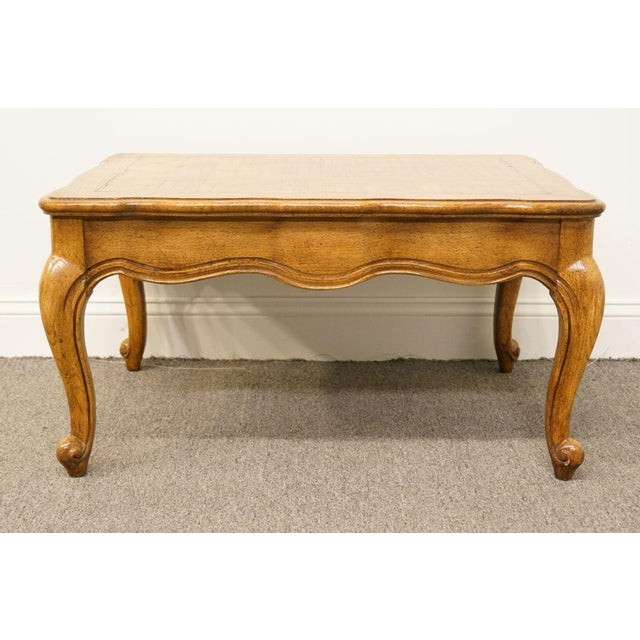 Weiman Furniture Country French Parquet Top Coffee Table For Sale In Kansas City - Image 6 of 12