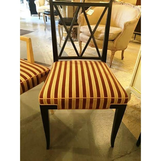 1950's Tommi Parzinger X-Back Chairs - Set of 6 For Sale - Image 7 of 7