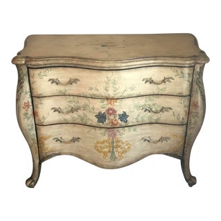 French Style Hand Painted Dresser Commode For Sale