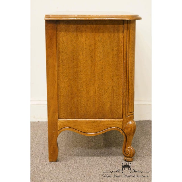02ef6363dca Late 20th Century Vintage Thomasville Furniture Tableau Collection Three  Drawer Nightstand For Sale - Image 10