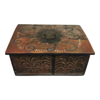 Antique Norwegian Folk Art Box For Sale