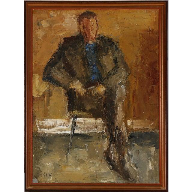"""Portrait of a Gentleman"" by Jeppe Vontillius For Sale - Image 4 of 4"
