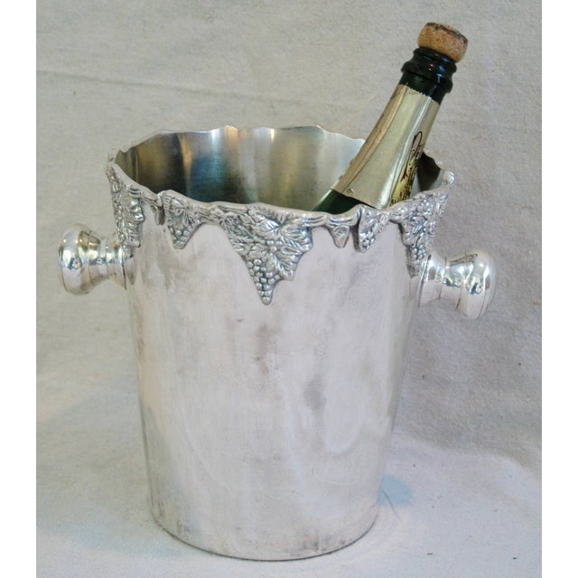 Silver-Plate Champagne Bucket with Grape Motif - Image 4 of 7