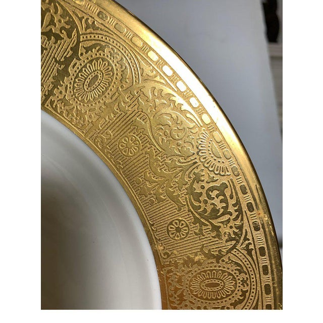 Gold Wide Gold Bordered Service Plates - Set of 12 For Sale - Image 8 of 12