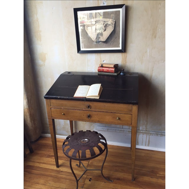 Small Italian Antique Writing Desk For Sale In Kansas City - Image 6 of 8