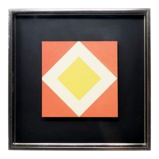 1970s Diamond Op Art by Turner For Sale