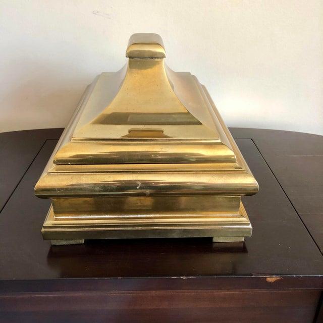 Mid-Century Modern 1978 Chapman Brass Pagoda Box For Sale - Image 3 of 7
