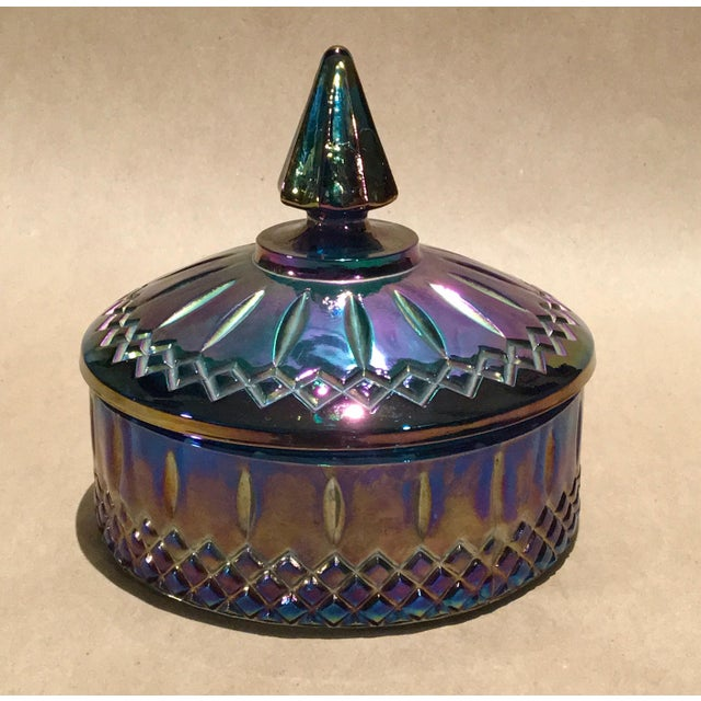 Indiana Glass Co. Mid-Century Carnival Glass Candy Dish - Image 2 of 8