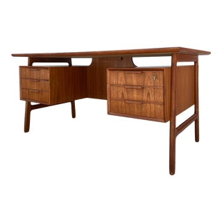 Mid-Century Modern Kai Kristiansen Teak Floating Executive Desk For Sale