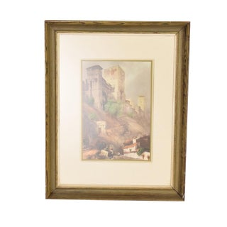 Antique Italian Landscape Framed Painting For Sale