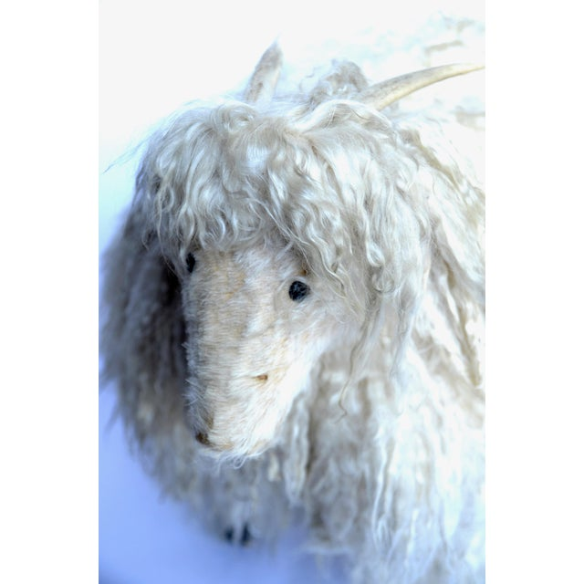 Claude Lalanne 1970s Angora Horned Sheep Ottoman in Claude Lalanne Style For Sale - Image 4 of 6