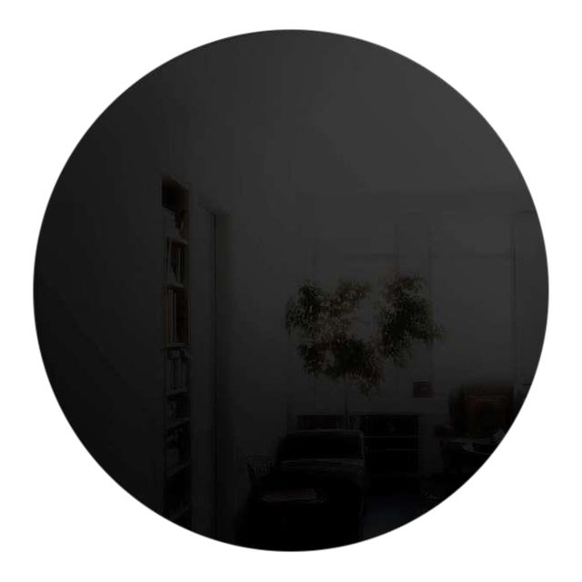 Art Deco Style Round Black Wall Mirror For Sale