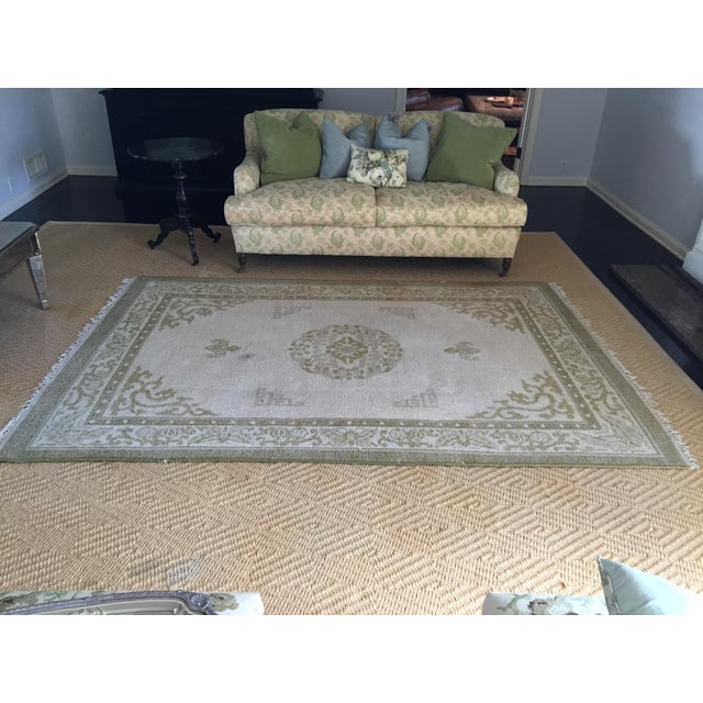"""Vintage Asian Area Rug - 5'11"""" X 9'4"""" - Image 2 of 5"""