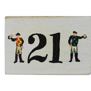 "The ""21"" Club Two Jockeys Faux Matchbook For Sale"