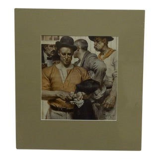"Original ""Pay Day"" Matted Print For Sale"