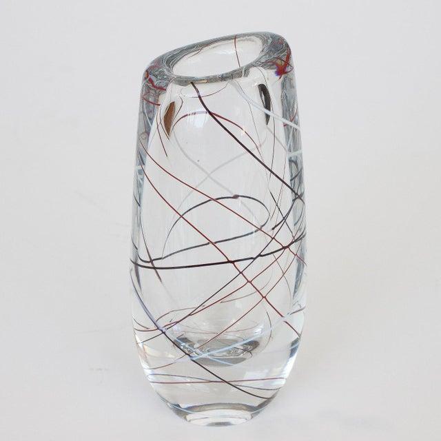 Vicke Lindstrand for Kosta Glass Vase - Image 5 of 9