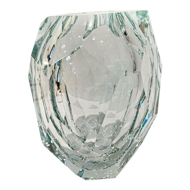 Clear Crystal Mipreshus Vase by Orfeo Quagliata For Sale