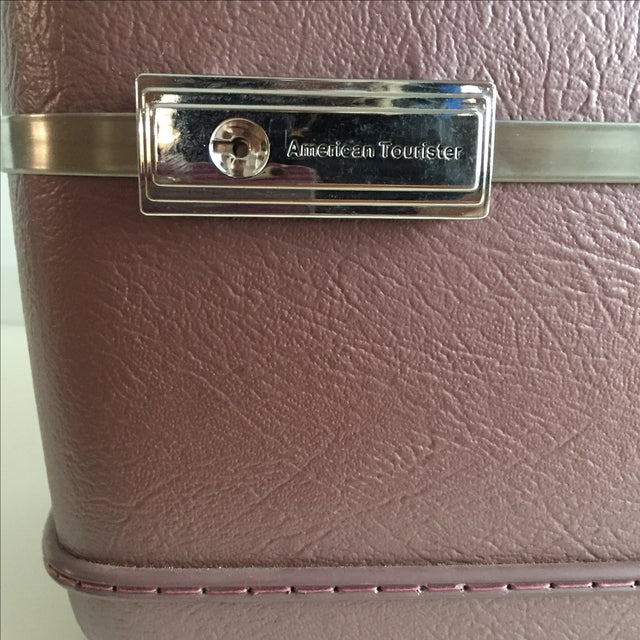 Pearlescent Purple American Tourister Train Case - Image 6 of 6