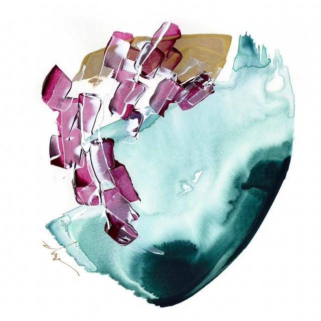 "Beth Winterburn Original Abstract Painting - ""8/1. 1."" - Image 1 of 3"