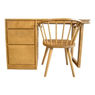 Russel Wright for Conant Ball Desk and Chair For Sale