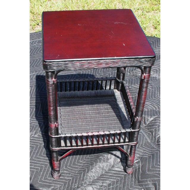 Palecek Boho Chic Palacek Rattan /Wicker Side Tables - a Pair For Sale - Image 4 of 8