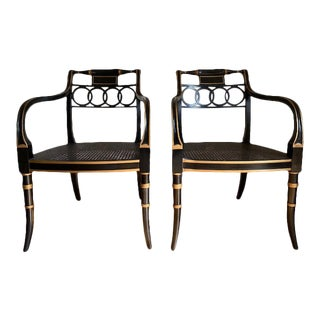 Baker Governor Alston Armchairs - a Pair For Sale