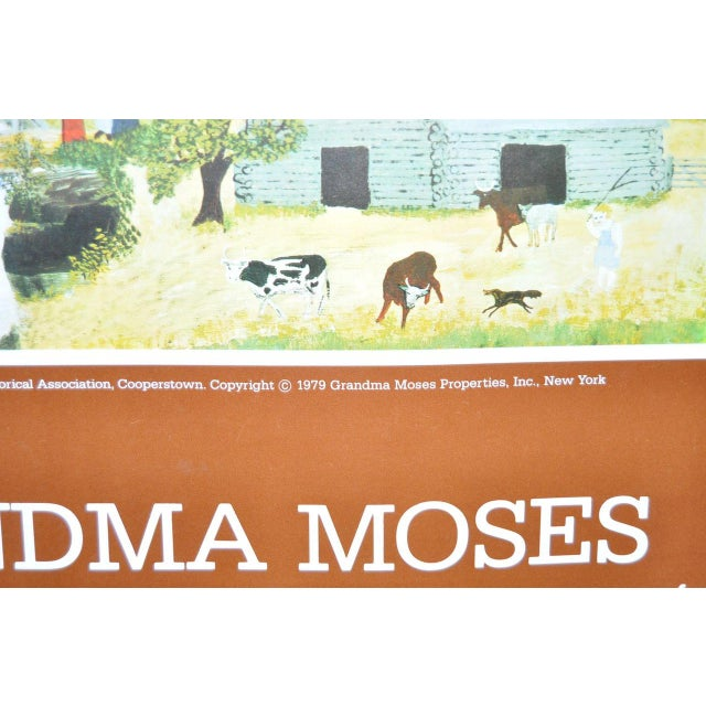 """Vintage """"Grandma Moses"""" Exhibition Poster National Gallery of Art, Washington, DC 1979 For Sale In San Francisco - Image 6 of 8"""
