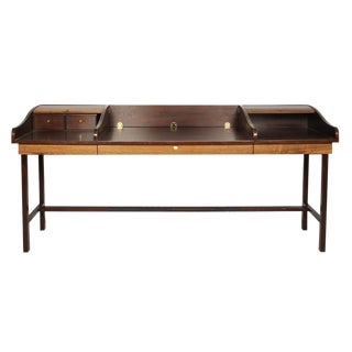 Edward J Wormley Executive Roll Top Partner's Desk For Sale