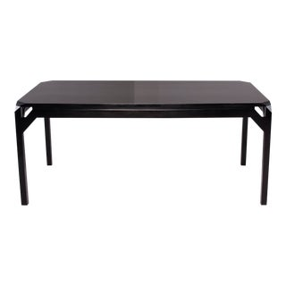Ebonised Mid Century Beech Dining Table For Sale