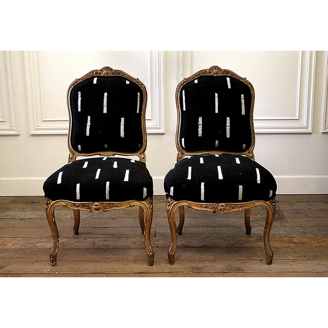 Late 19th Century Giltwood Louis XV Style French Chairs- A Pair For Sale - Image 13 of 13
