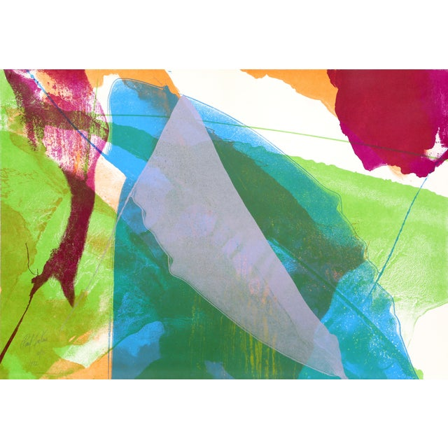 Abstract Silkscreen by Paul Jenkins 1972 For Sale
