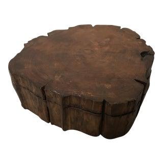 Live Edge Italian Cypress Decorative Box For Sale