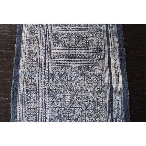 Vintage Silver Indigo Batik Fabric Roll For Sale - Image 5 of 7