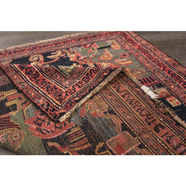 "Islamic Apadana - Antique Persian Bidjar Rug, 4' x 4'3"" For Sale - Image 3 of 4"